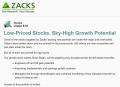 Zacks Stocks Under $10
