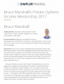 Private Trading Mentorships 2017 by Bruce of Simpler Options Trading
