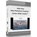 Adam Khoo - Value Momentum Investing Course - Whale Investor